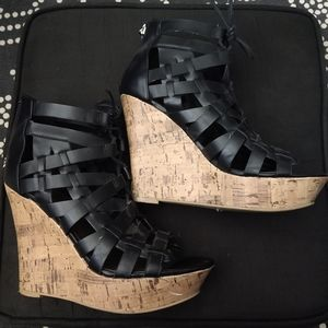 G by Guess Platform Wedge Sandals